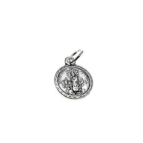Medalla plata ley 925m 10mm. Virgen Gracia Puerto Llano [AA8165]