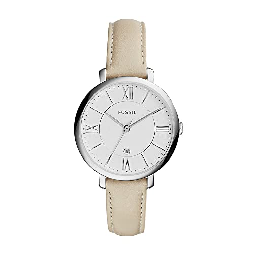 Reloj FOSSIL para mujer Jacqueline, caja de 36 mm, movimiento de cuarzo, correa de piel