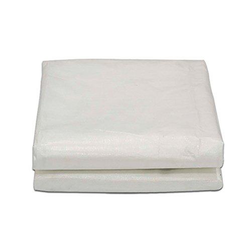Yxsd Plane-Polyäthylen-Sonnenschutz-regendichte Markise-Auto-Abdeckungs-Tuch im Freien 180g / m², 8 Größen, weiß (größe : 5 * 6m)