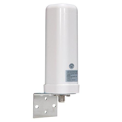Lysignal Antenna omnidirezionale Esterna da 698 a 2700 MHz 9dBi per Il Segnale di Trasmissione Mobile
