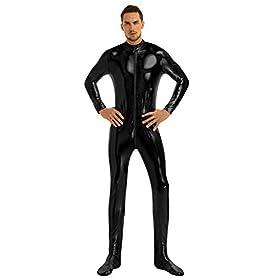 iiniim Adult Shiny Metallic One Piece Unitard Full Bodysuit Halloween Costume Zentai Suit Catsuit