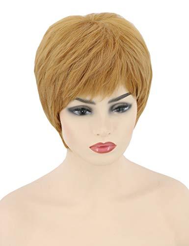 Topcosplay Mujer Peluca Rubia Cosplay Cersei Lannister Peluca Corta para Disfraz de Halloween Carnaval o Uso Diario