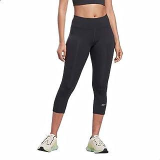 Reebok Side Pocket Elastic Waistband Cropped Leggings for Women