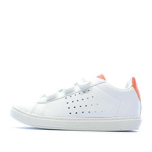 Le Coq Sportif Baskets Blanc/Orange bébé garçon Courtset