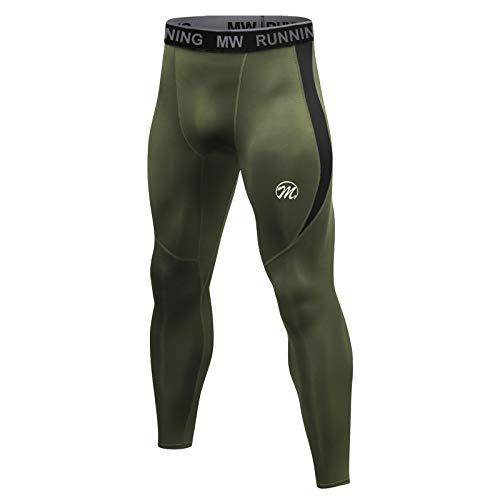 MEETWEE Leggings Hombre, Largas Pantalón de Compresión Pantalones Deporte Mallas Running para Fitness Yoga
