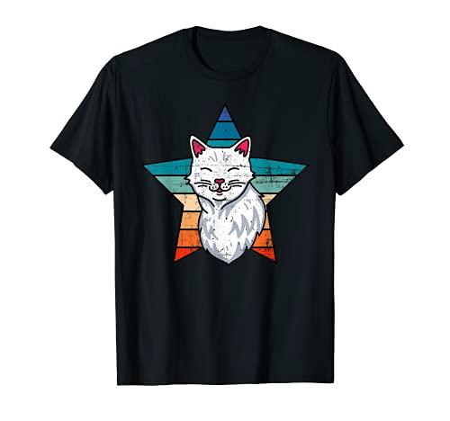 Camiseta retro de gato, camisa de gato, camisa para amantes de gatos, gato para mujer Camiseta