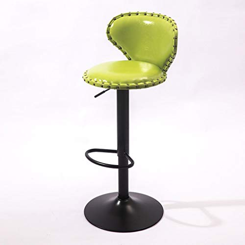 Yanydo Metalen barkruk, Lift en Swivel barkruk, modern minimalistisch startpagina barkruk, lounge caféstoelen, messing nails-60-80 cm