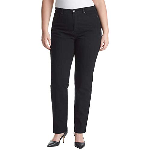 Gloria Vanderbilt Ladies' Amanda Stretch Denim Tapered Leg Jean Sizes 4-18 Average Length - 31' Inch Inseam (14, Black)