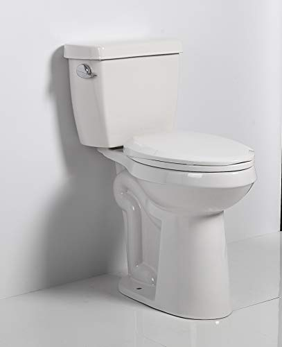 """Nero 21"""" HIGH TALL BOWL Toilet Comfort Height ADA Handicapped Two Piece Commode Water Closet Elongated 27"""" Long x 15"""" wide x 36"""" High Indoro Alto"""