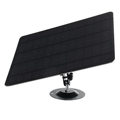 Tableta Solar de 3 Metros a Prueba de Agua del Panel Solar a Prueba de Agua 10W generador Solar de la Tableta Solar for la cámara de Seguridad al Aire Libre (Color : Zwart)
