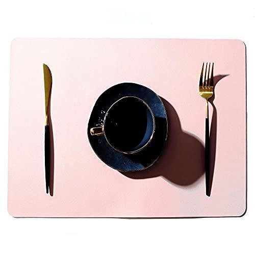 Jstoo Cojín De Carne De Cuero De PVC Respetuoso con El Medio Ambiente, A Prueba De Agua Y Absorción De Aceite, Almohadilla De Aislamiento, Tableta-Rosado_4 (45 * 30Cm)