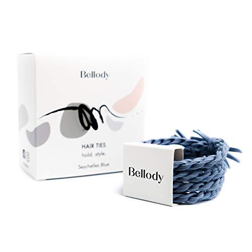 Bellody Original Haargummis - Stylisch geflochtene Haargummis mit starkem Halt - 1er Pack (1x 4 Stück)
