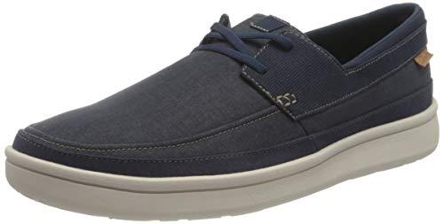 Clarks Cantal Lace, Zapatillas Hombre, Color Azul Marino, 44 EU