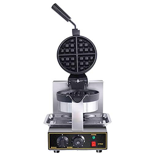 Gofrera Eléctrica 1.3KW Control De Temperatura Ajustable Revestimiento Antiadherente Rotación De 180 Grados Para Uso Comercial En El Hogar