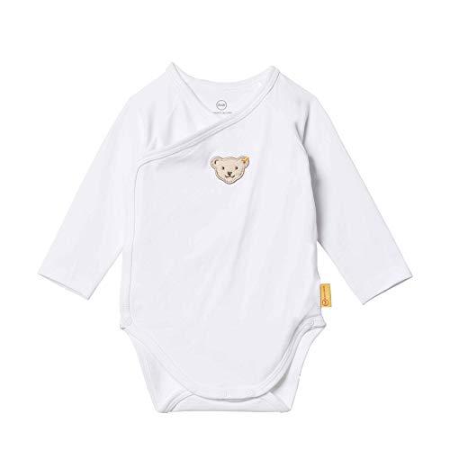 Steiff Baby-Jungen Formender Body, Weiß (BRIGHT WHITE 1000), 56 (Herstellergröße:56)