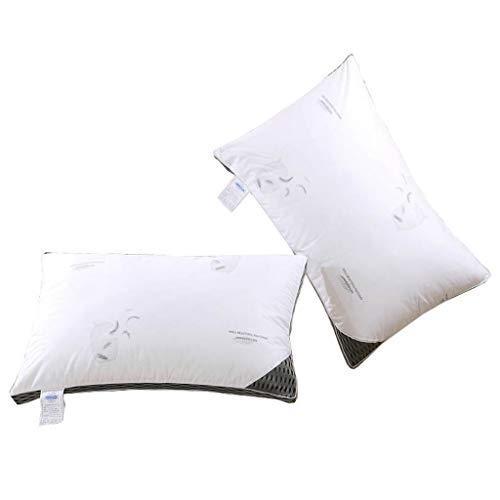 JYLJL Down Pillows, Bed Pillow, Deep Sleep Skin Friendly Best for Neck Shoulder Pain Allergy Sufferers, Soft to Medium Support