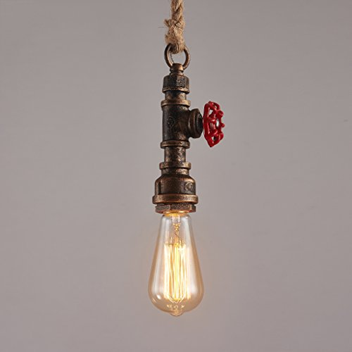LLYU Creative europ/éen r/étro industriel lustre /à vent couleur verre bouteille lustre caf/é-restaurant magasin de v/êtements restaurant lampes