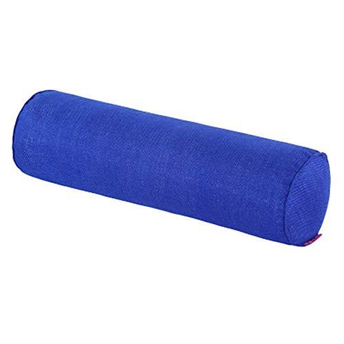 Hava Kolari Nackenrolle, Lendenkissen Baumwolle und Leinen Massage Kissen Sofa Polster Nackenkissen (Marine,20X100cm)