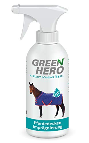 Green Hero Pferdedecken Imprägnierspray Imprägnierung für Outdoordecken, Ohne Treibgas, Effektive Nanoversieglung gegen Schmutz und Feuchtigkeit 500 ml