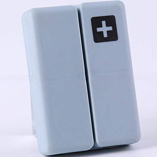 Lecez Caja de píldoras de Almacenamiento nórdico, Plegado Semitransparente y subvención Mini Almacenamiento de Almacenamiento Organizador Píldora pequeña, Azul, Verde, Rosa, Caqui, 10x7x2.5cm
