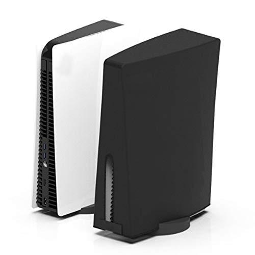 Runsmooth Cubierta Antipolvo Compatible con La Consola De Juegos Playstation 5, Versión De Unidad Óptica/Versión Digital, Color Negro