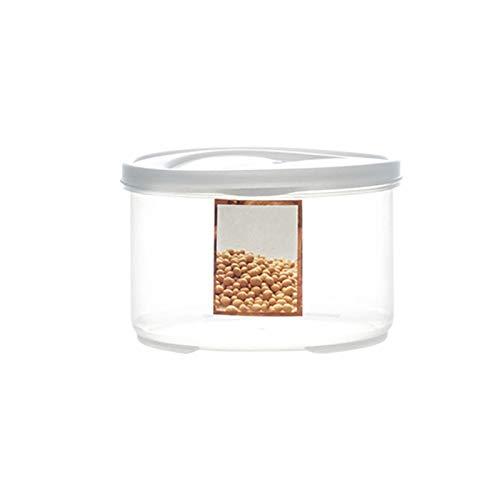 YUMEIGE Caja de Almacenamiento de cosméticos Tarro hermético de la Cocina, Caja de Almacenamiento de Grado alimenticio, Tarro de Almacenamiento de Grano Entero, plástico de la Botella vacía con Tapa,