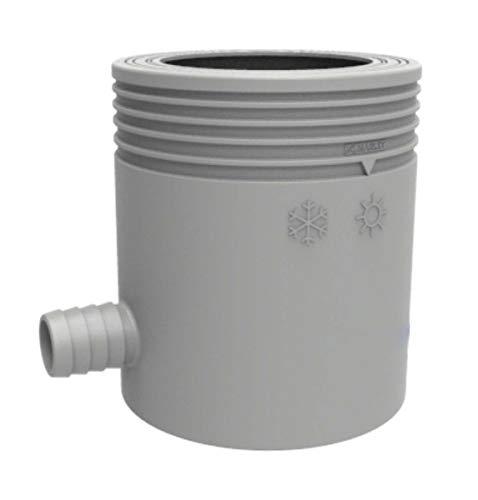 Marley Regensammler mit Filter und Überlaufstop, DN 53-75mm, grau
