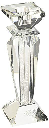 Ten Candelabro in Cristallo Singolo con Glitter Medio cod.32.00047 cm 6x6x18h by Varotto & Co.