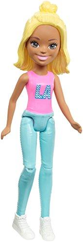 Barbie Muñeca FHV57 On The Go (Rubio con Camiseta Rosa)