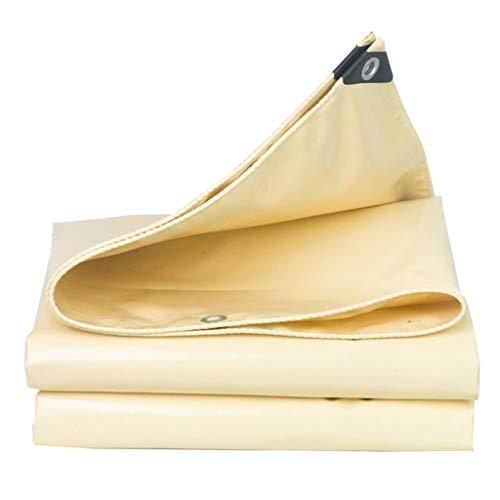 Lona Beige Lona de protección Solar Impermeable, Material Grueso de Alta Resistencia, Impermeable, sombrilla al Aire Libre para toldo de Lona, Carpa, Bote, RV o Cubierta de Piscina (Size : 3m×5m)