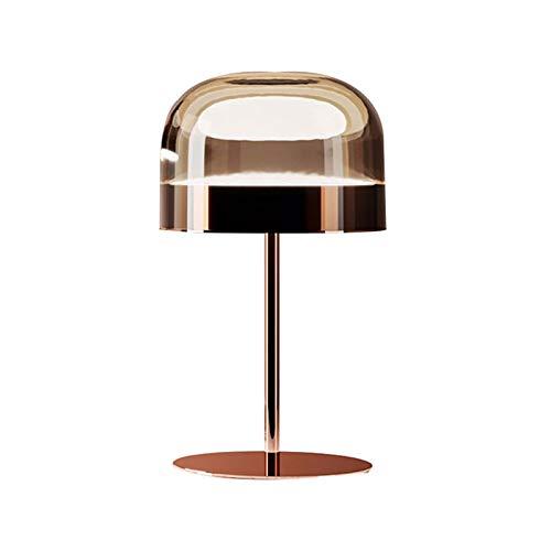 M I A Nordic Creative - Lámpara de mesa para dormitorio (cristal, color oro rosa, pequeño, para mesita de noche, para sala de estar, oficina (tamaño: B)