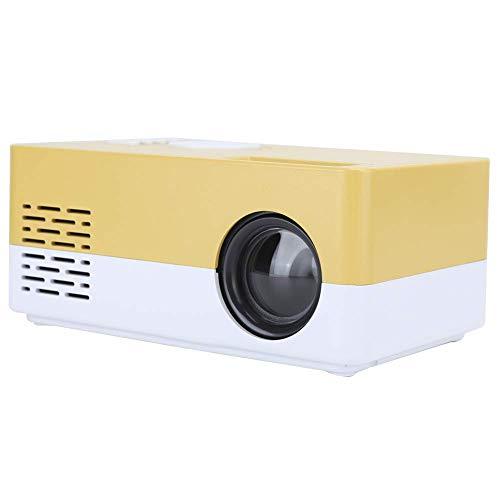 Caja pantalla mini proyector, Mini proyector inteligente 1080p, Proyector video HDMI USB Home Cinema, Proyector cine casa enfoque manual LED alta definición completa, Proyector video multifuncional,