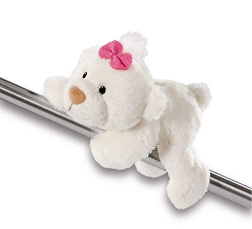 NICI 43342 Magnettier kleine Bären-Schwester, 12 cm, weiß