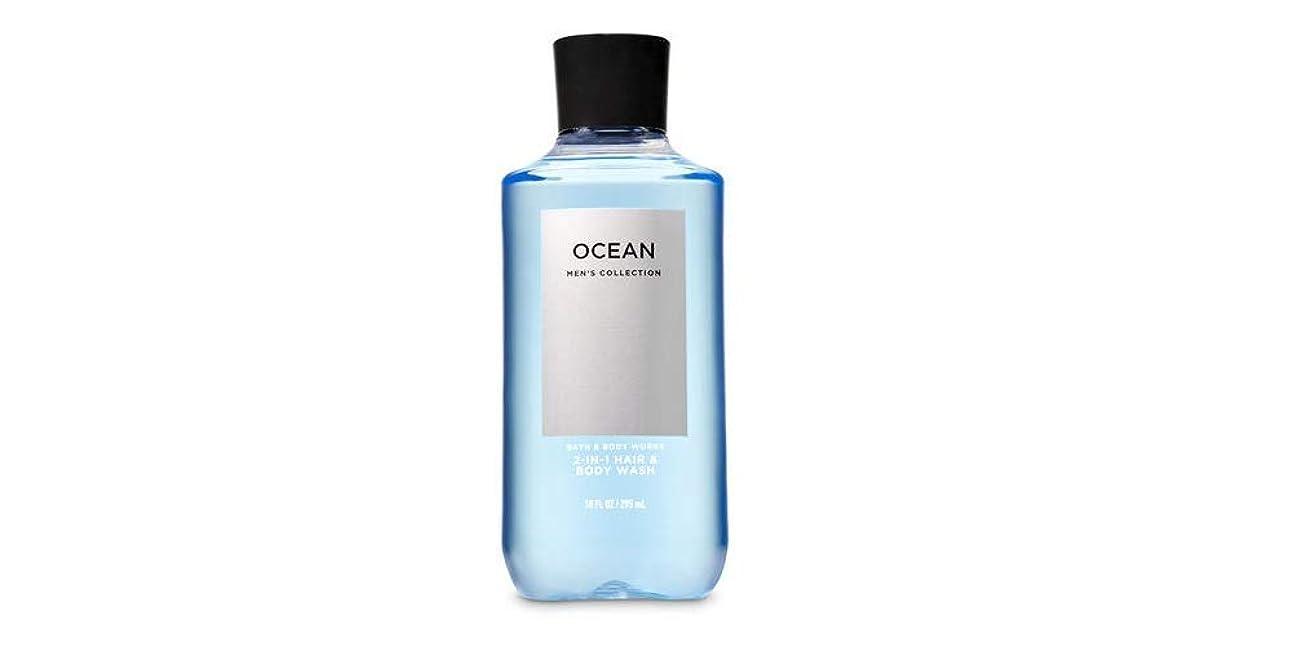 モンキー彼自分の力ですべてをする【並行輸入品】Bath & Body Works Signature Collection 2-in-1 Hair + Body Wash Ocean For Men 295 mL