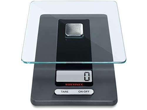 Soehnle Fiesta Báscula de cocina con gran pantalla LCD, peso digital con...