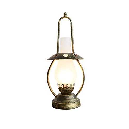 WFSH Tablamp Cabecera Creativo Nostálgico Tablamp Retro Tablamp Dormitorio de Cabecera de la Lámpara País Americana Lamp Hotel Modelo Decoración de la Sala de Lectura de la Lámpara de la Lám