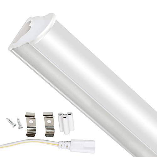120cm Tubos Fluorescentes LED Lámpara 6000K 1500LM T5 Lámparas Lluminación Gabinete Interior Luces Bar Garaje Sala de Conferencias Oficina Escuela Hospital Restaurantes Hoteles 18W 1pc