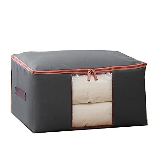 JSBAN Dicke Oxford-Tuch-Kleidung Quilt Aufbewahrungstasche Große Quiltbeutel Quilt Aufbewahrungstasche Kleidung Weiche Aufbewahrungsbox (Color : Gray, Size : M About 50x40x25cm)