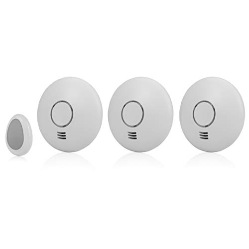 Smartwares RM174RF/3 3-er-Pack, Funk-Rauchmelder mit Fernbedienung, flaches Design, EN 14604 konform