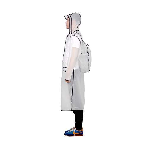 Z-Brand Regenjas Transparante regenjas voor vrouwen Transparante regenjas Waterdichte en dunne herbruikbare lichte regenjas Draagbare verpakking (grootte: 116 * 118cm)