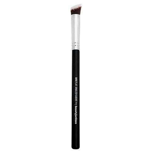 Flat Angled Contour Makeup Brush - Small Mini Kabuki Brush Synthetic Bristles Best for Precision Contouring & Eye Brow Definition, Vegan Brochas Para Ojos