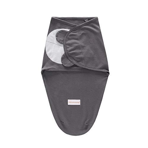 Miracle Baby Swaddle Blanket,Manta Envolvente para Bebé,Swaddle Wrap 100% Algodón,Saco de Dormir Bebe Recién Nacidos (0-3M, Gris)