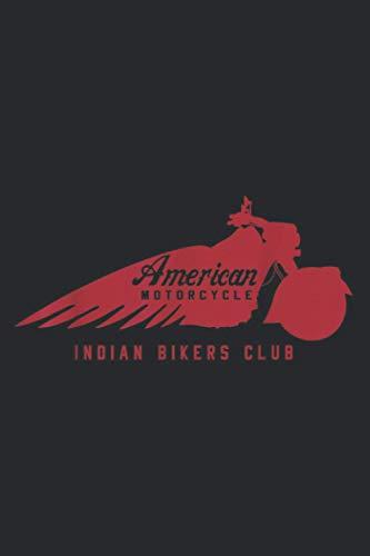Vintage American Motorcycle Indian Bikers Club: Weekly Planner - One Page Per Week, Minimalist Weekly Planner Journal, To Do List, Weekly Organizer