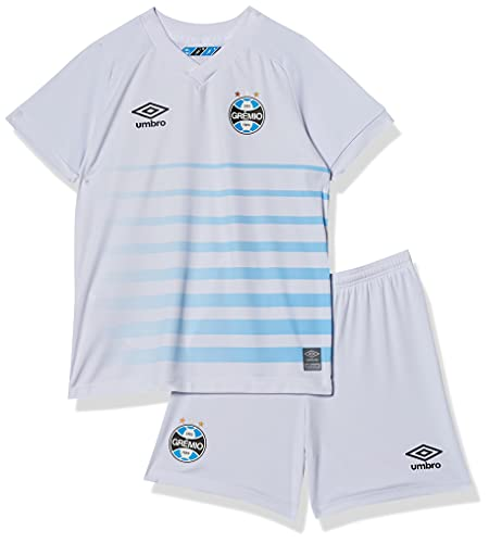 Kit Clube Gremio Oficial 2 2021, Umbro, Infantil, Branco/Azul, 2