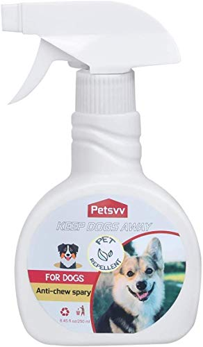 Petsvv Stop Spray para el adiestramiento de Perros y Gatos Anti-masticadores Stop Dogs Repelente Spray Interior/Exterior 250 ML