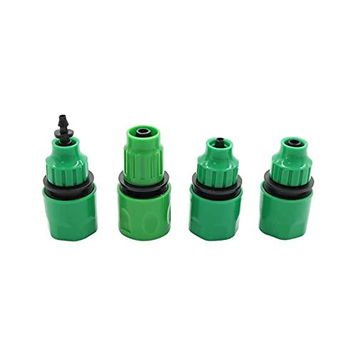 Accesorios de Conector de Manguera Grifo de jardín con Acoplamiento rápido de Espiga de 4 mm, 8 mm, Accesorios de tubería de riego por Goteo de Invernadero, adaptadores de conexión de Manguera 2