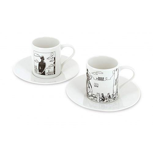 Moulinsart Set of Two Espresso Cup and Saucer Corto Maltese in Venice (479821)