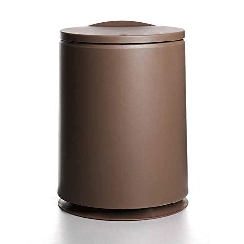 Plastic vuilnisbak met deksel, Afvalscheiding System, keuken, slaapkamer, bureau, badkamer vuilnisbak (Kleur: koffie kleur) LOLDF1 (Color : Coffee Color)