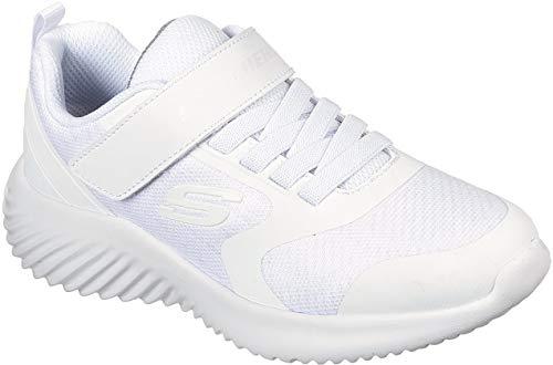 Skechers - Boys Bounder Shoe, Size: 2 M US Little Kid, Color: White