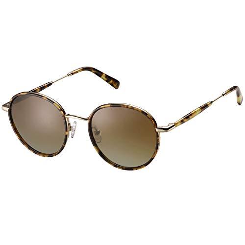 Carfia Polarisierte Damen Sonnenbrille UV400 Retro Runde Blaulichtfilter Brille für Freizeit Fahren Golf